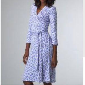 Diane Von Furstenberg Printed Wrap Dress NWT